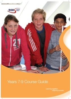 Years 7-9 Course Guide