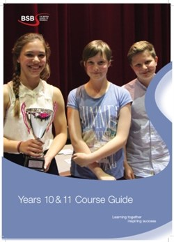 Years 10-11 Course Guide